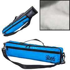 Paititi Brand New C Flute Hard Case Cover w Side Pocket/Handle/Strap Blue Color