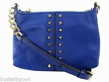 MICHAEL KORS SMALL ASTOR CHAIN CROSSBODY ELECTRIC BLUE LEATHER