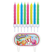 8 Shopkins Children's Birthday Party Cake Decoration Candles