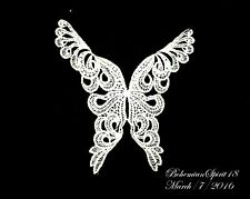 intage AWESOME BUTTERFLY Embroidered MOTIF WHITE LACE APPLICANT old/New Stock