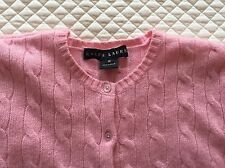 Ralph Lauren Black Label Pink Cashmere Cardigan Sweater M