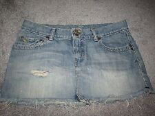 ABERCROMBIE & FITCH DENIM RIPPED DESIGN SKIRT SIZE 6 100% COTTON CUTE LOOK