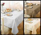 Damask Rose Tablecloth. Choice of colours & sizes