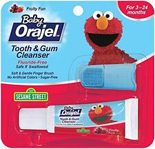 2 Pack - Baby Orajel Tooth And Gum Cleanser Fruit Flavor 0.7oz Each