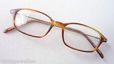 Augentraum kleine Brillenfassung Hornoptik braun Klassikstil Antiklook Flexbügel