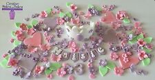 Princess Crown Sofia Flowers Butterflies The First Edible Cake Topper Large Set