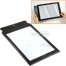 BIG A4 Full Page 3x Magnifier Sheet LARGE Magnifying Glass Book Reading Aid Lens
