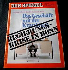 Der Spiegel 11/72 Titelbild: Deutschlands Ärzte - Das Geschäft mit der Krankheit