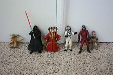 Vintage Star Wars Action Figures   Loose Lot of 6  1999  by Hasbro