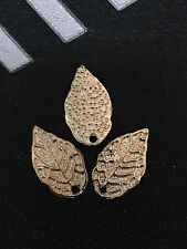 PJ186 /20pc Tibetan Gold Bead Charms leaves Accessories Jewelry Findings