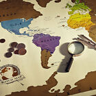 New Design Travel Edition Vacation Scratch Off World Map Poster Personal Log