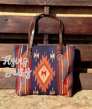 Wool Market Tote Bag Purse Aztec Southwestern Boho Cowgirl Rodeo Large Spirit