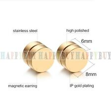 Fashion Hot Non Pierced Magnetic Clip On Earring Cheater Ear Plug Stud Tunnel US