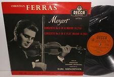 LXT 5044 Mozart Violin Concertos Christian Ferras Stuttgart Chamber Munchinger