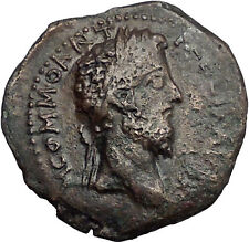 COMMODUS 177AD Philippi Macedonia JULIUS CAESAR AUGUSTUS RARE Roman Coin i55552