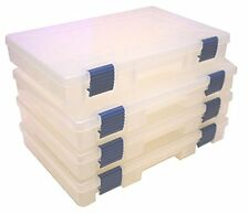 Plano 3620-01 Stowaway with Adjustable Dividers, Blue Latches (Pack of Four)