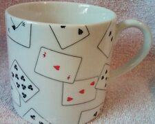DONALD SULTAN 'Game Set Cards' 1 Swid Powell Porcelain Coffee Mug / Cup *NEW*