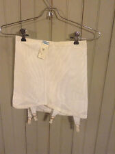 New w Tags! Vintage white Best Form open Bottom girdle w/ garters & zipper sz 30