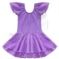 Girls Gymnastics Ballet Dress Leotard Tutu Skirt Dancewear Toddler Kids Costume