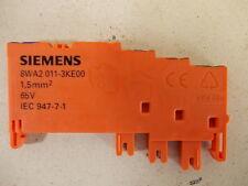 (3,75€/Einheit) 4x Siemens 8WA2 0011-3KE00 1,5mm² 65V IEC947-7-1 Anschlußklemme