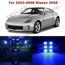 Full Blue 5 Lights SMD LED Interior Package Kit For Nissan 350Z Z 2003-2008