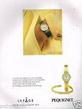 Publicité advertising 1991 La Montre Pequignet