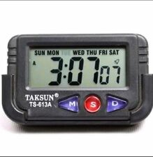 TAKSUN DIGITAL CLOCK, DIGITAL LCD ALARM TABLE DESK CAR