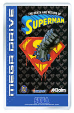 THE DEATH AND RETURN OF SUPERMAN MEGA DRIVE FRIDGE MAGNET IMAN NEVERA