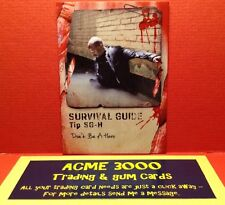 Topps WALKING DEAD SURVIVAL BOX - SURVIVAL GUIDE Card - SG-H - DON'T BE A HERO