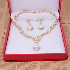 2015 Fashion Gold Plated Bridal Jewelry Sets Pearl Ball Beads Necklace Earrings