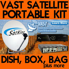 Satking Vast 75cm Portable Satellite Dish Kit with Vast DVBS2-800CA Receiver