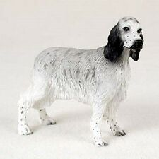 English Setter Dog Hand Painted Figurine Statue Collectible puppy Blue Belton