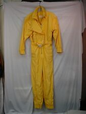 Bogner Women's Belted Snowsuit  Ski One Piece Outfit School Bus Yellow 6 L #186