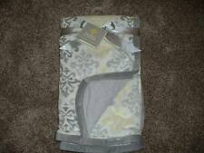 Blankets & Beyond Soft Gray White Boutique Damask Blanket NWT NEW Baby Infant