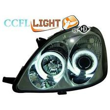 Pair headlights LHD TUNING TOYOTA YARIS 99-02 chrome-plated, with rings angel