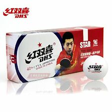 10x DHS Table Tennis Balls New Materials 1-Star 40+, White