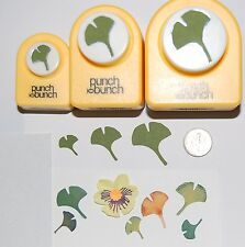 JAPANESE GINGKO Shape Punch SET of 3- S,M,L, Punch Bunch Scrapbook-Cardmaking