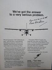 5/1971 PUB DE HAVILLAND CANADA AVION STOL TWIN OTTER AIRCRAFT ORIGINAL AD