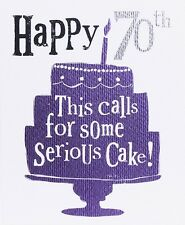 THE BRIGHT SIDE GREETING CARD: HAPPY 70TH  - NEW IN CELLO POST DAILY