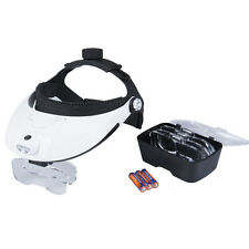 Headband Headset Head LED Lamp Light Jeweler Magnifier Magnifying Glass Loupe