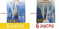 12packs Size 3/0 Fishing Rockfish Rig 2Hook Feather Grouper Bass Lures White +BW