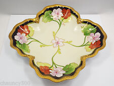 Limoges Floral Hand Painted Shallow Bowl Dish