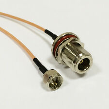 N female bulkhead to F type male plug pigtail cable RG316 15cm for wifi router