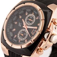 de lujo del dial de oro de gran tamaño hombres del reloj de deporte de la manera