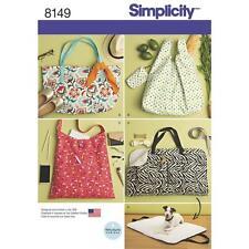 Simplicity sewing pattern 8149 pour rendre sacs fourre-tout & chien lit de voyage