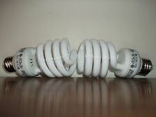100 WATT ENERGY SMART CFL  BULBS - ONLY USES 23 WATTS! 1600 LUMENS! Set of 2