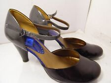 KENNETH COLE Reaction Work Space Leather High Heel Ankle Strap Sz 7.5 M A406042