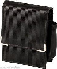 Portasigarette Sguardo cuoio / Nero - grande scatola - Tasca accendino esterno