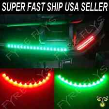 "LED Boat Bow Navigation Lighting RED & GREEN 12"" Submersible Marine Strips"