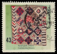 "CANADA 1462 - Hand-crafted Textiled ""Ontario Pieced Quilt"" (pf72174)"